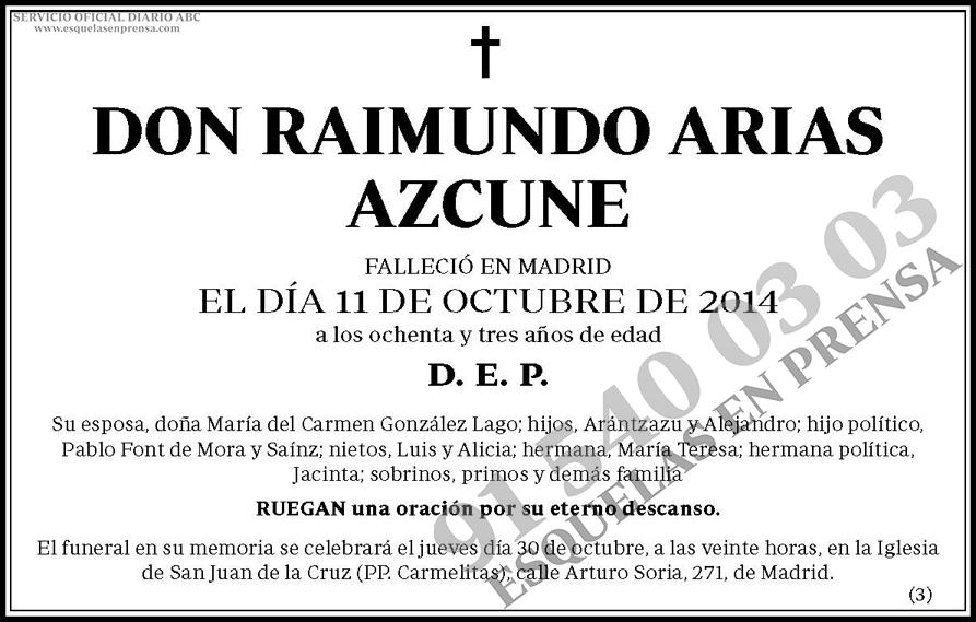 Raimundo Arias Azcune